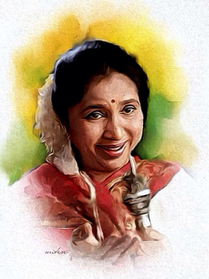 Asha bhonsle art 2