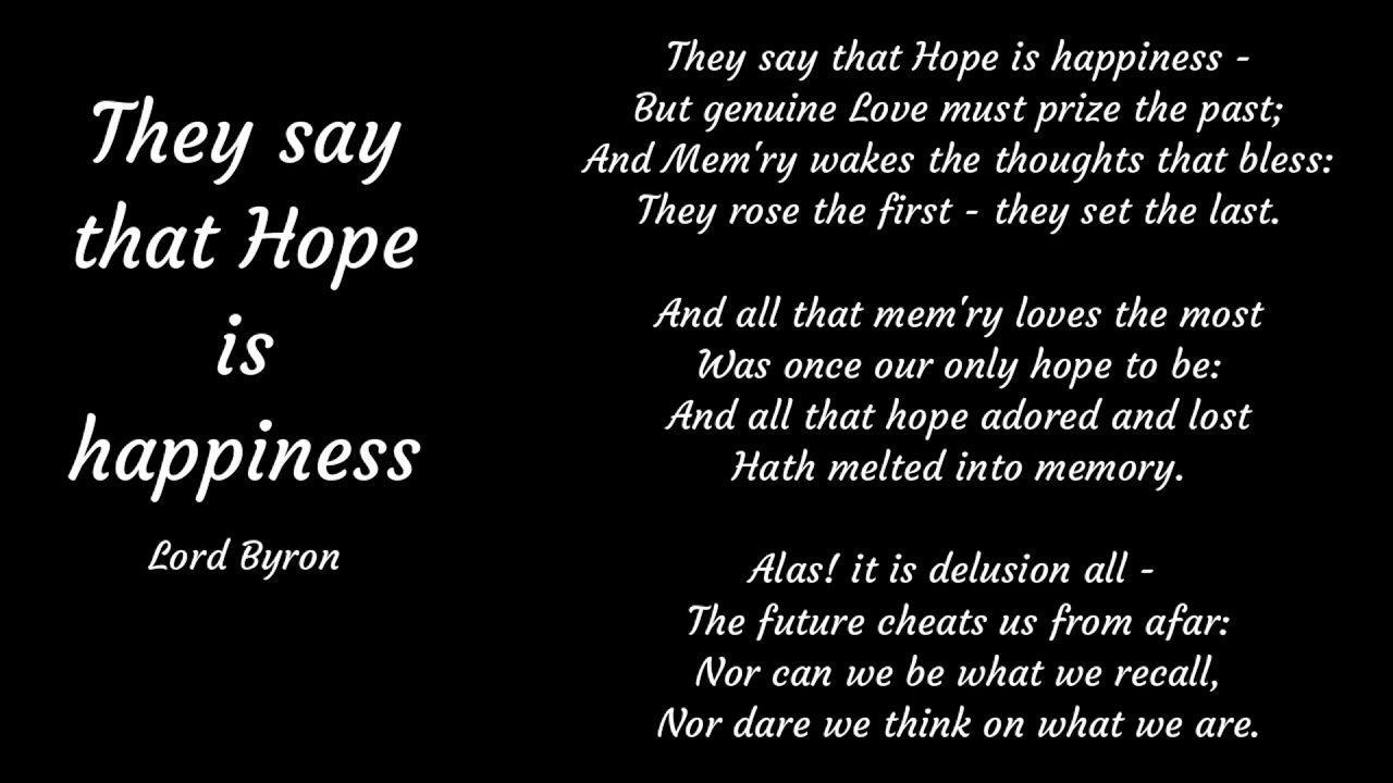 Hope Is Happiness