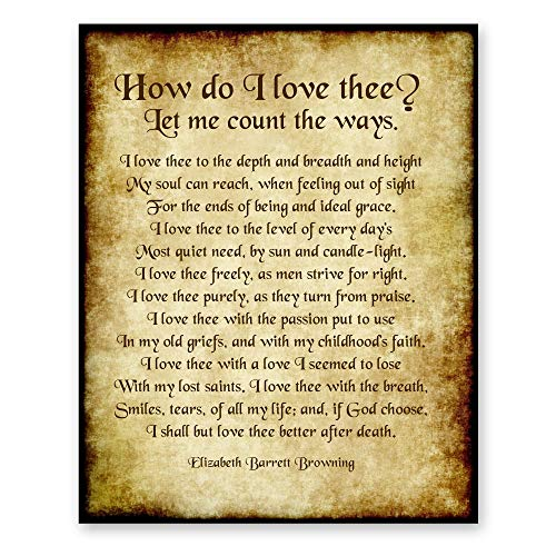 how do i love thee 1