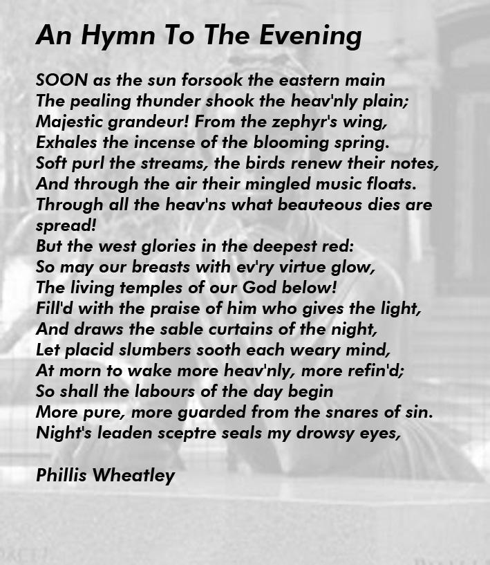 A Hymn to the Evening