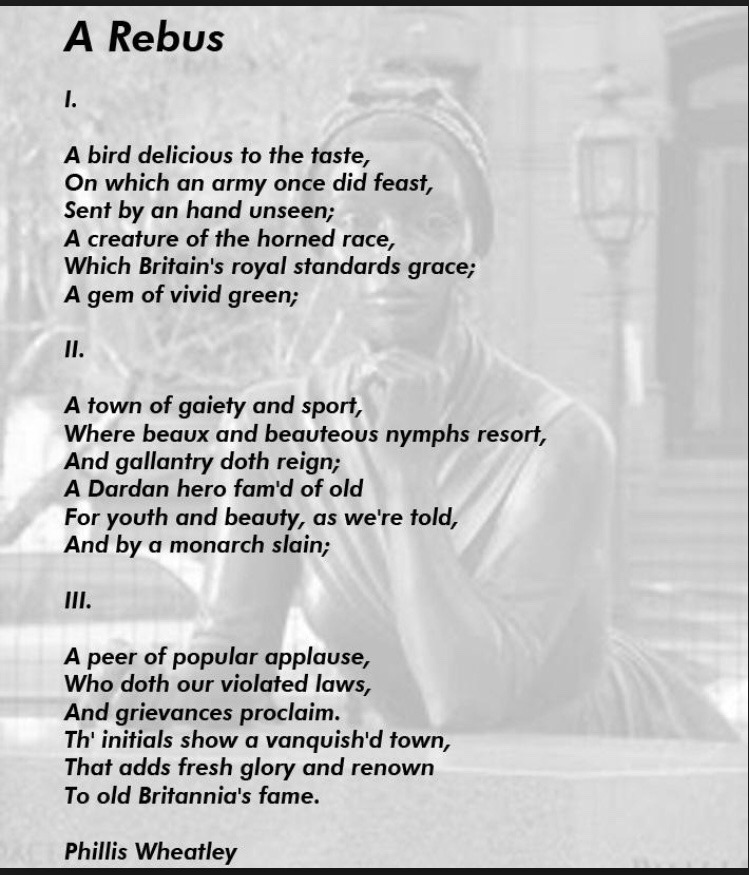 A Rebus poem