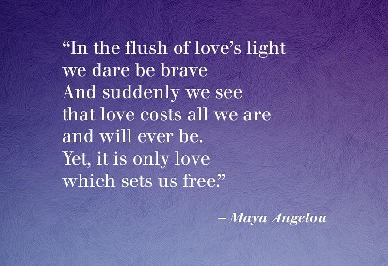 In the flush of light...